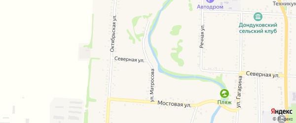 Улица Матросова на карте Дондуковской станицы Адыгеи с номерами домов