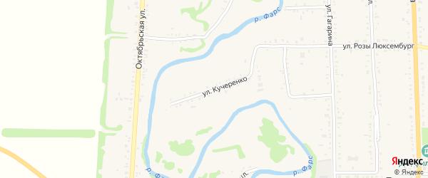 Улица Я.Кучеренко на карте Дондуковской станицы Адыгеи с номерами домов