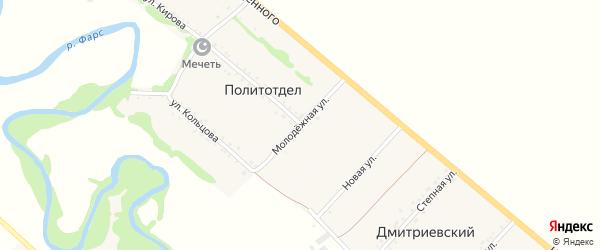 Молодежная улица на карте хутора Политотдела Адыгеи с номерами домов