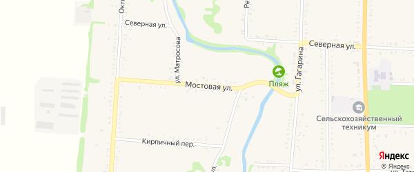 Мостовая улица на карте Дондуковской станицы Адыгеи с номерами домов