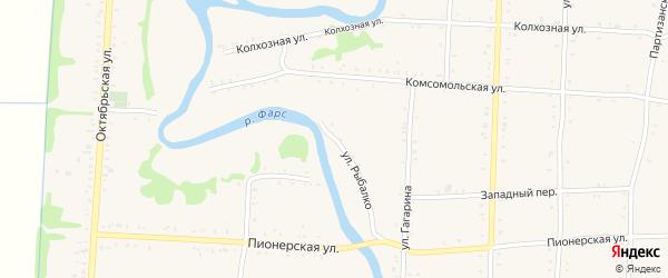 Улица Рыбалко на карте Дондуковской станицы с номерами домов