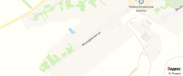 Молодежная улица на карте села Новоселовки Ростовской области с номерами домов