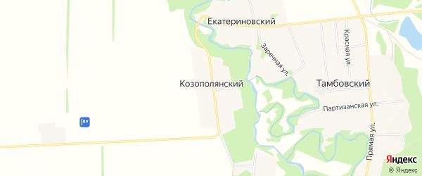 Карта Козополянского хутора в Адыгее с улицами и номерами домов