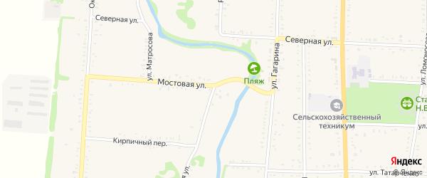 Речная улица на карте Дондуковской станицы Адыгеи с номерами домов