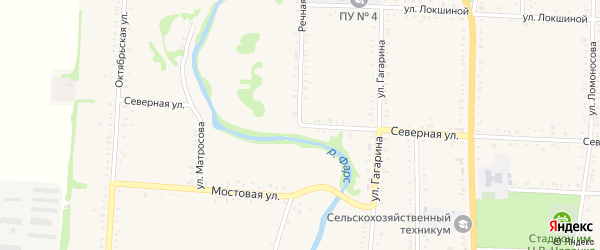 Речная улица на карте Михельсоновского хутора Адыгеи с номерами домов