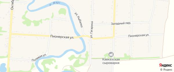 Пионерская улица на карте Дондуковской станицы Адыгеи с номерами домов