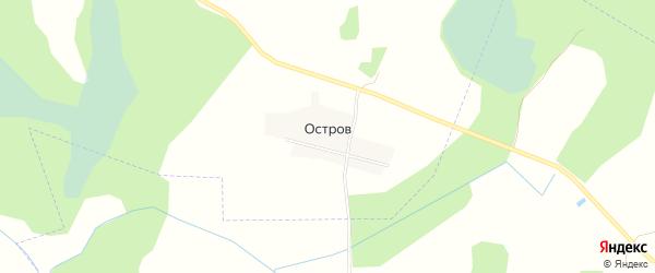 Карта деревни Острова в Ивановской области с улицами и номерами домов