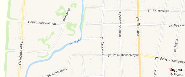 Фарсовый переулок на карте Дондуковской станицы с номерами домов