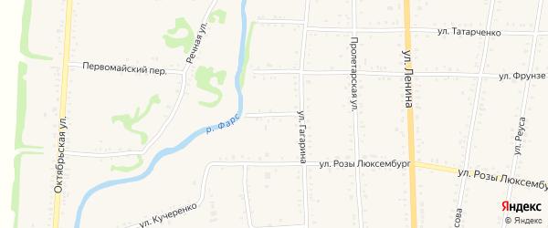 Фарсовый переулок на карте Дондуковской станицы Адыгеи с номерами домов