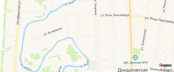 Односторонняя улица на карте Дондуковской станицы Адыгеи с номерами домов