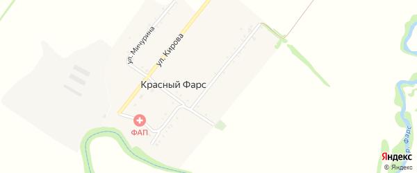 Улица З.Космодемьянской на карте хутора Красного Фарса с номерами домов