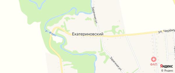 Заводская улица на карте Екатериновского хутора Адыгеи с номерами домов