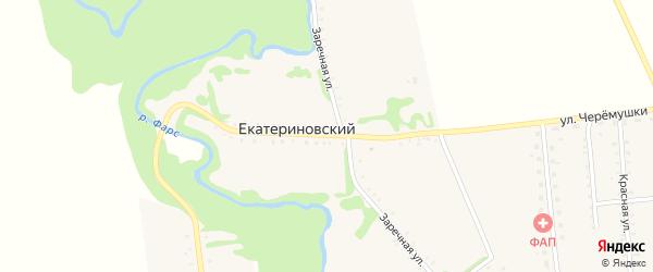 Пионерская улица на карте Екатериновского хутора Адыгеи с номерами домов