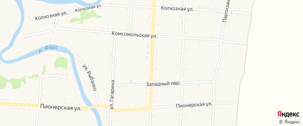 Улица Ленина на карте Дондуковской станицы Адыгеи с номерами домов