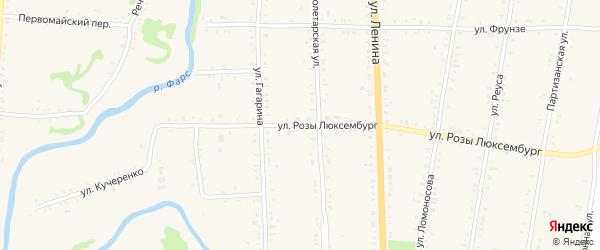 Улица Р.Люксембург на карте Дондуковской станицы Адыгеи с номерами домов