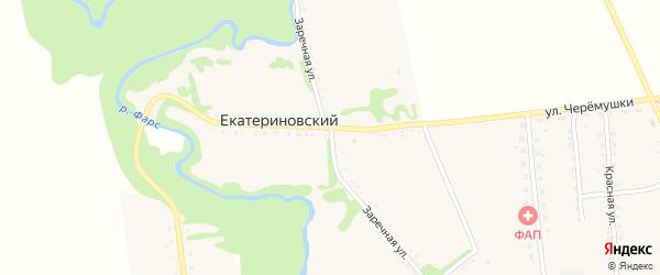 Заречная улица на карте Екатериновского хутора Адыгеи с номерами домов