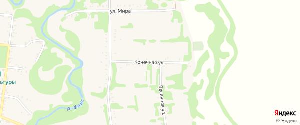Конечная улица на карте Сергиевского села с номерами домов