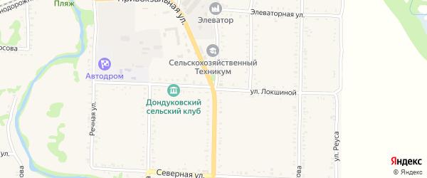 Улица Б.Локшиной на карте Дондуковской станицы Адыгеи с номерами домов