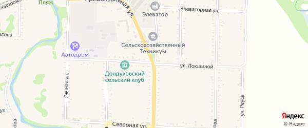 Улица Б.Локшиной на карте Дондуковской станицы с номерами домов