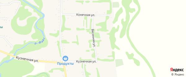 Весенняя улица на карте Сергиевского села Адыгеи с номерами домов