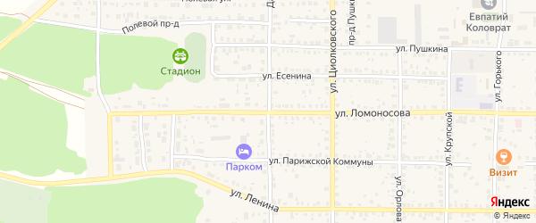 Дачная улица на карте Спасска-Рязанского с номерами домов