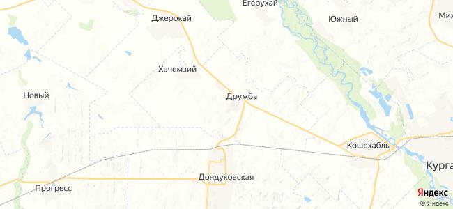 Новоалексеевский на карте