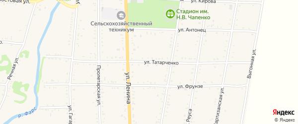 Улица Татарченко на карте Дондуковской станицы Адыгеи с номерами домов
