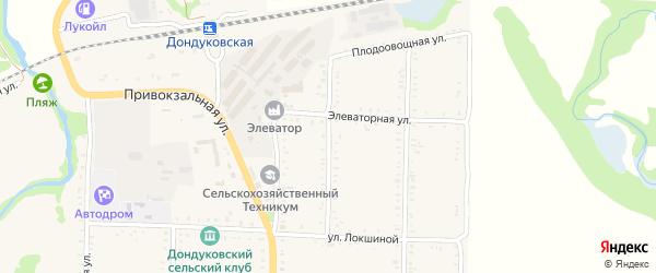 Улица Шевченко на карте Дондуковской станицы Адыгеи с номерами домов