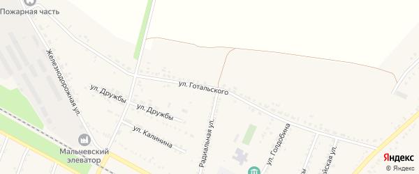 Улица Готальского на карте Мальчевской станицы Ростовской области с номерами домов