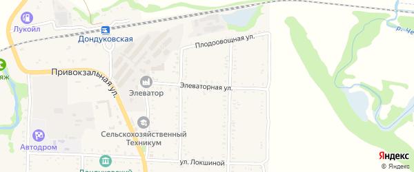 Элеваторная улица на карте Дондуковской станицы Адыгеи с номерами домов