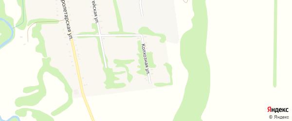 Колхозная улица на карте Сергиевского села Адыгеи с номерами домов