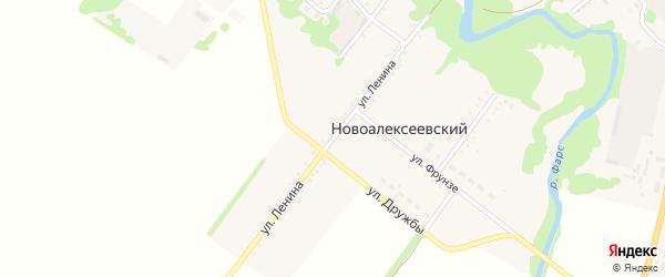 Улица Ленина на карте Новоалексеевского хутора Адыгеи с номерами домов