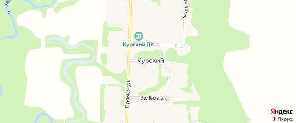 Веселая улица на карте Курского хутора Адыгеи с номерами домов