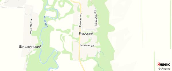 Карта Курского хутора в Адыгее с улицами и номерами домов