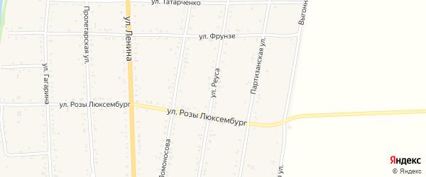 Улица Реуса на карте Дондуковской станицы Адыгеи с номерами домов
