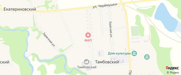 Молодежная улица на карте Тамбовского хутора Адыгеи с номерами домов
