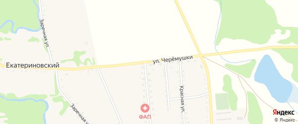 Улица Черемушки на карте Тамбовского хутора Адыгеи с номерами домов