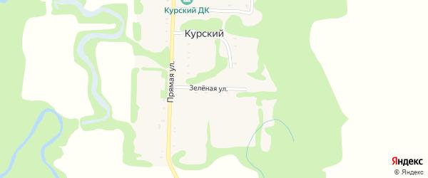 Зеленая улица на карте Курского хутора Адыгеи с номерами домов