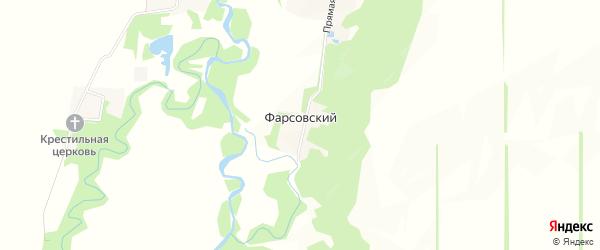 Карта Фарсовского хутора в Адыгее с улицами и номерами домов