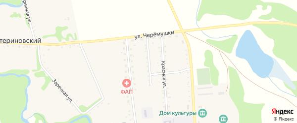 Односторонняя улица на карте Тамбовского хутора Адыгеи с номерами домов