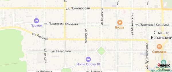 Улица Орлова на карте Спасска-Рязанского с номерами домов