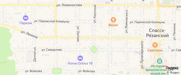 Улица Ленина на карте Спасска-Рязанского с номерами домов
