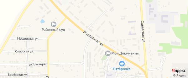 Улица Рязанское шоссе на карте Спасска-Рязанского с номерами домов