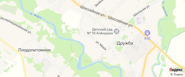 Улица Мира на карте поселка Дружбы Адыгеи с номерами домов