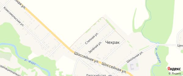 Степная улица на карте поселка Чехрака Адыгеи с номерами домов