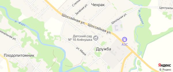 Промышленная улица на карте поселка Дружбы Адыгеи с номерами домов
