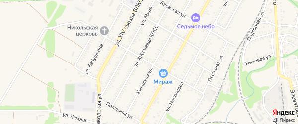 Красная улица на карте Миллерово с номерами домов