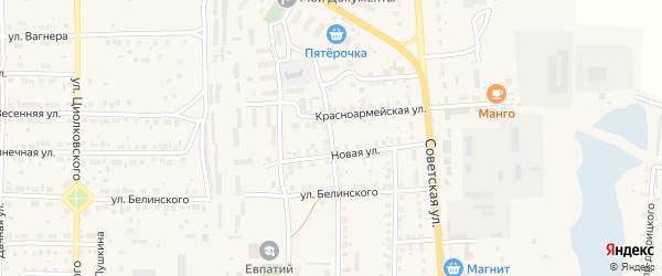 Рабочая улица на карте Спасска-Рязанского с номерами домов