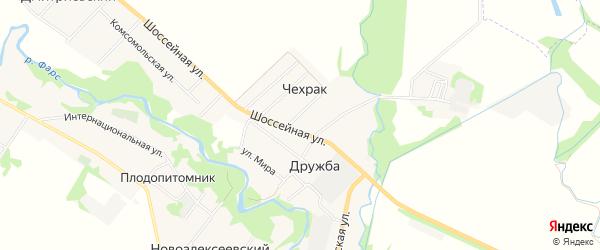 Карта поселка Чехрака в Адыгее с улицами и номерами домов