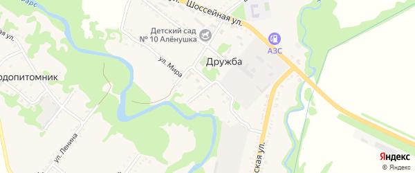 Садовая улица на карте поселка Дружбы Адыгеи с номерами домов